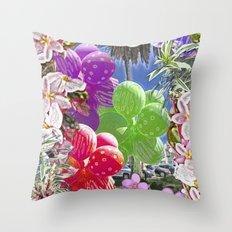 BALLOON LOVE:  Tropical Pop Throw Pillow