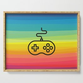 Gamer By Nature - rainbow joystick Serving Tray