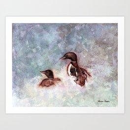 Loon Calling by Maureen Donovan Art Print