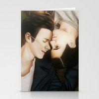 klaine Stationery Cards featuring Klaine The Fault in Our Stars by weepingwillow