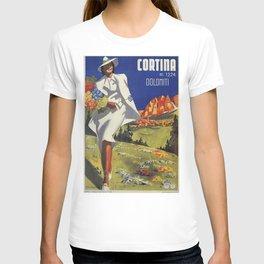 Vintage Italian Alps Cortina summer travel T-shirt