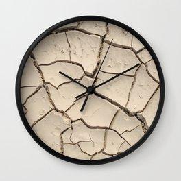 cracked land Wall Clock
