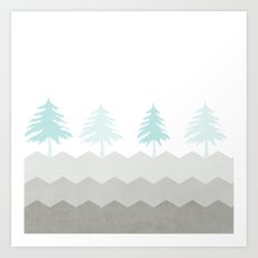 Trees {The Boring Afternoon Design Series} Art Print