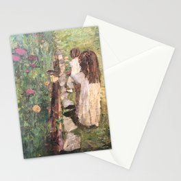 Zoe & Stella at the Garden Stationery Cards