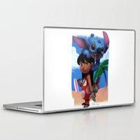 lilo and stitch Laptop & iPad Skins featuring Lilo & Stitch by Archiri Usagi