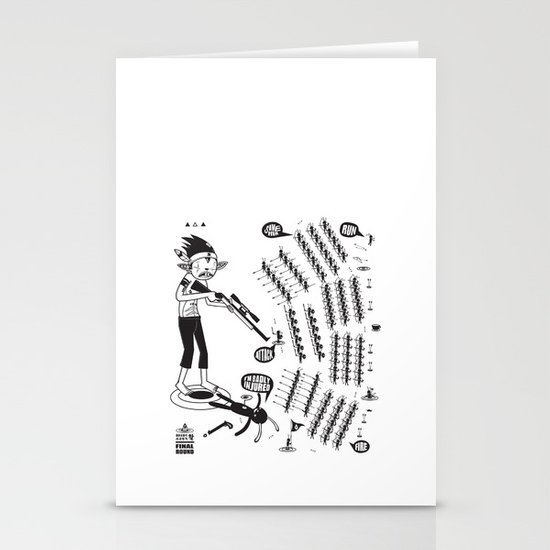 SORRY I MUST RUN - ULTIMATE WEAPON ARROW [FINAL ROUND] Stationery Cards