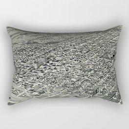 Birds eye of Lincoln, Nebraska - 1889 Rectangular Pillow