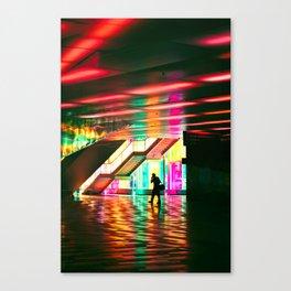 Neon Stride Canvas Print