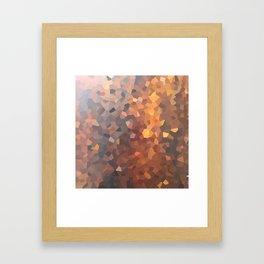 Amber Moon Lights Framed Art Print