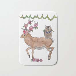 unlikely friends Bath Mat