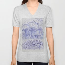 Scenery and Environment Art Sketch  Unisex V-Neck