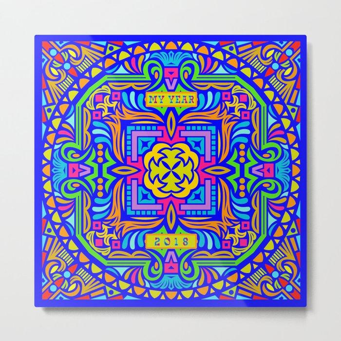 2018 Mandala #2 – Notebooks & more Metal Print