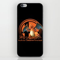 smash bros iPhone & iPod Skins featuring Charizard - Super Smash Bros. by Donkey Inferno