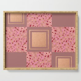RoseGold: Animal Print Quilt III Serving Tray