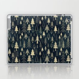 Christmas tree forest in gold Laptop & iPad Skin