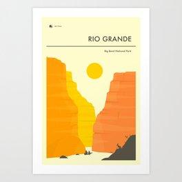 THE RIO GRANDE Art Print