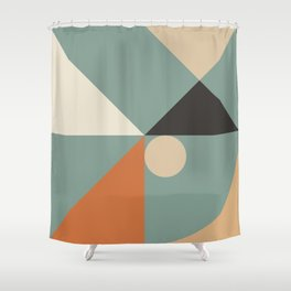 Mid Century 08C Shower Curtain