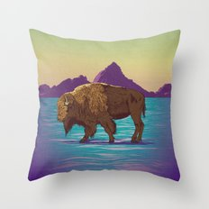 Buffalo Country Throw Pillow