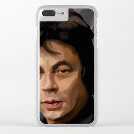 Benicio del Toro 41 Clear iPhone Case