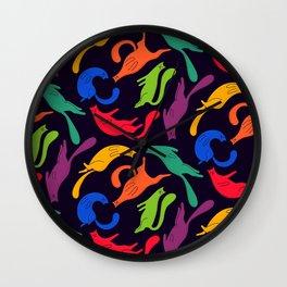 Cosmic cats Wall Clock