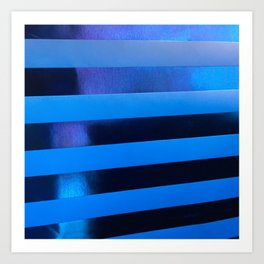 Blue Stripes. Fashion Textures Art Print