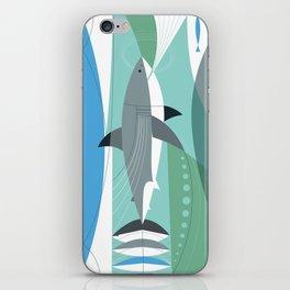 Keep Moving Forward (great White Shark) iPhone Skin