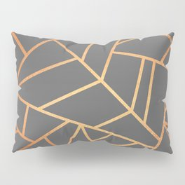 Copper And Grey Pillow Sham