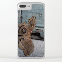Moth Mother Clear iPhone Case