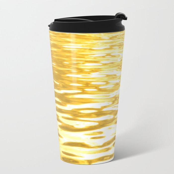 Liquid Gold Metal Travel Mug