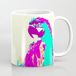Exotic Neon Colorful Parrot Bird Coffee Mug