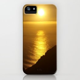 Sunset over the Canary islands iPhone Case