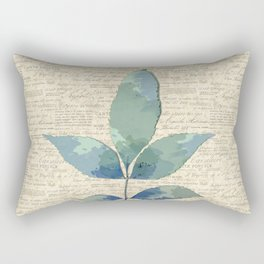 leaves. floral picture for home decor. Abstract Art. Wall art decorative 7 Rectangular Pillow