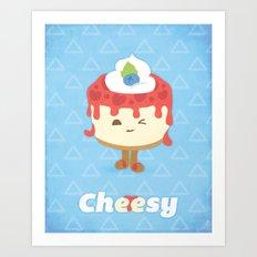 Cheese Cake Art Print