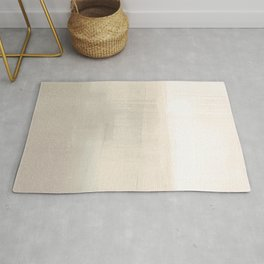 Beige and Taupe Horizon Minimalist Abstract Landscape Rug