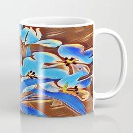 Painted Forget Me Nots Coffee Mug