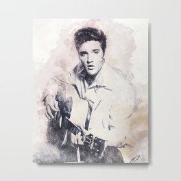 Elvis Presley portrait 01 Metal Print