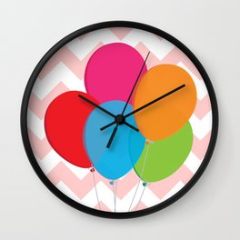 Colorful balloons Wall Clock