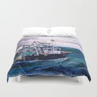 england Duvet Covers featuring New England by Samantha Crepeau