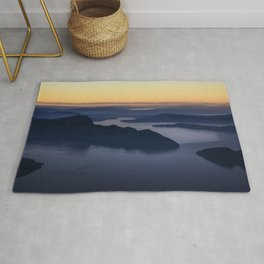 The glow of the lake Rug