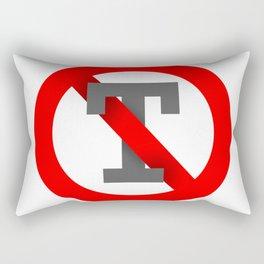 No T Rectangular Pillow