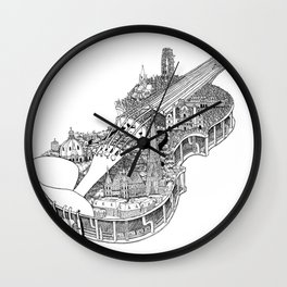 Violin City Wall Clock