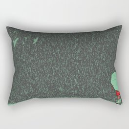 rain falls Rectangular Pillow