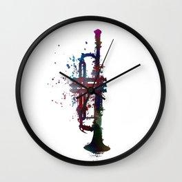 trumpet art #trumpet #music Wall Clock