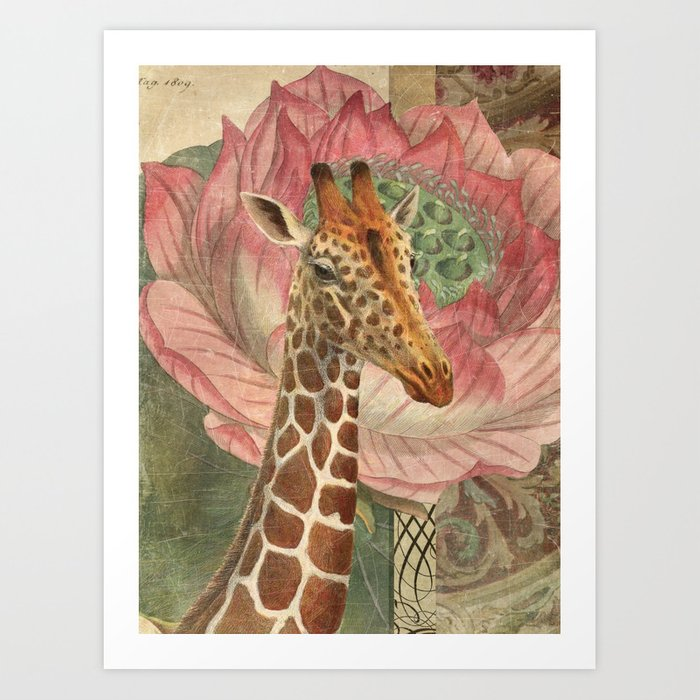 One Chuffed Giraffe Kunstdrucke