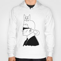 karl Hoodies featuring Karl & Choupette by cvrcak