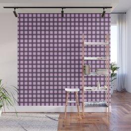Gray purple plaid Wall Mural