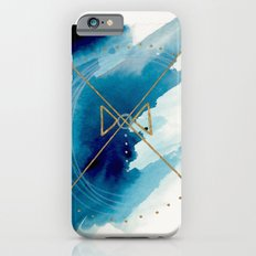 Galaxy Series 3 - a blue and gold abstract mixed media set Slim Case iPhone 6s