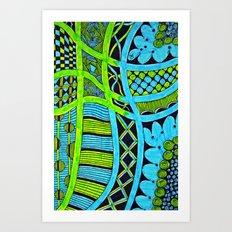 Two Pencil String Art Print