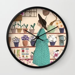 The Flower Shop Wall Clock