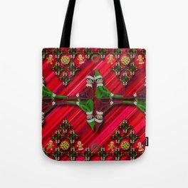 Christmas Tree Candy Cane Elf Tote Bag
